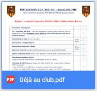 Formulaire d'Inscription - Déjà au club